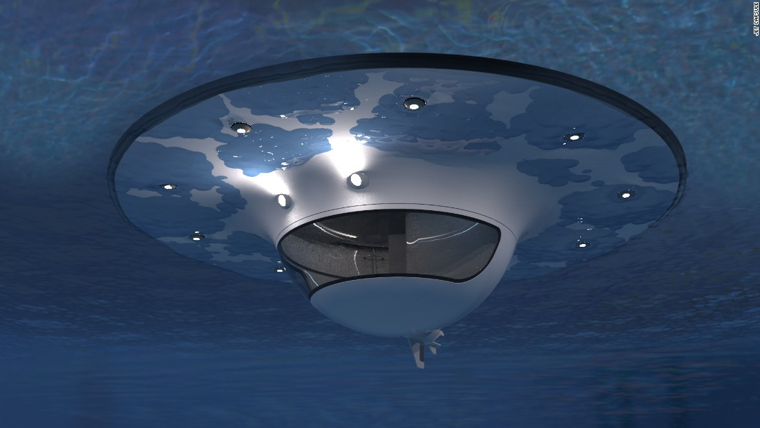 Made of two fiberglass shells, the UFO (which in this case, stands for unidentified floating object) is essentially what it looks like -- a spherical boat, able to reach a top speed of 3-5 knots.