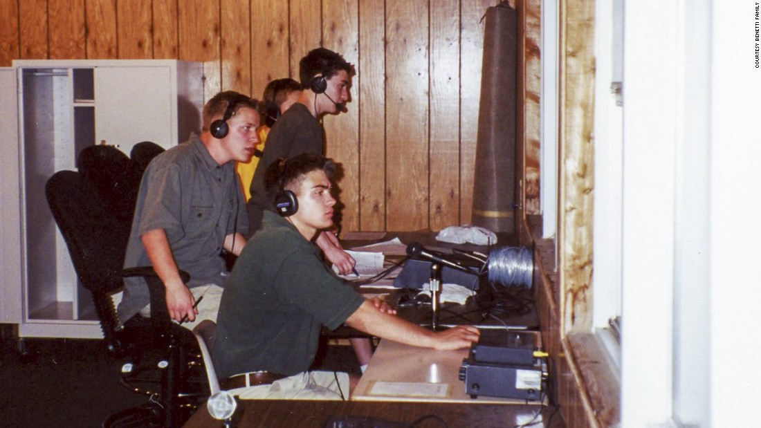 Benetti, standing in front, worked as an announcer for his high school radio station in Homewood, Illinois.