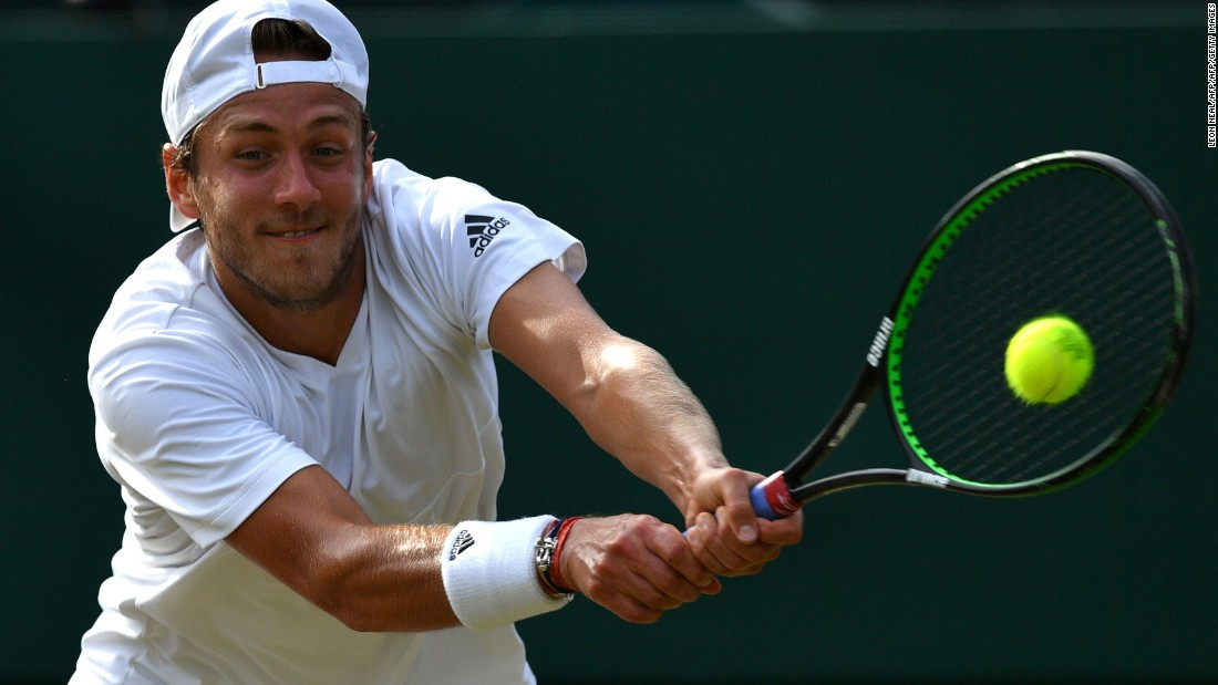 The Czech won in straight sets against France's world No. 30 Lucas Pouille. Before this tournament, the 22-year-old had never been past the second round at a grand slam in nine attempts.
