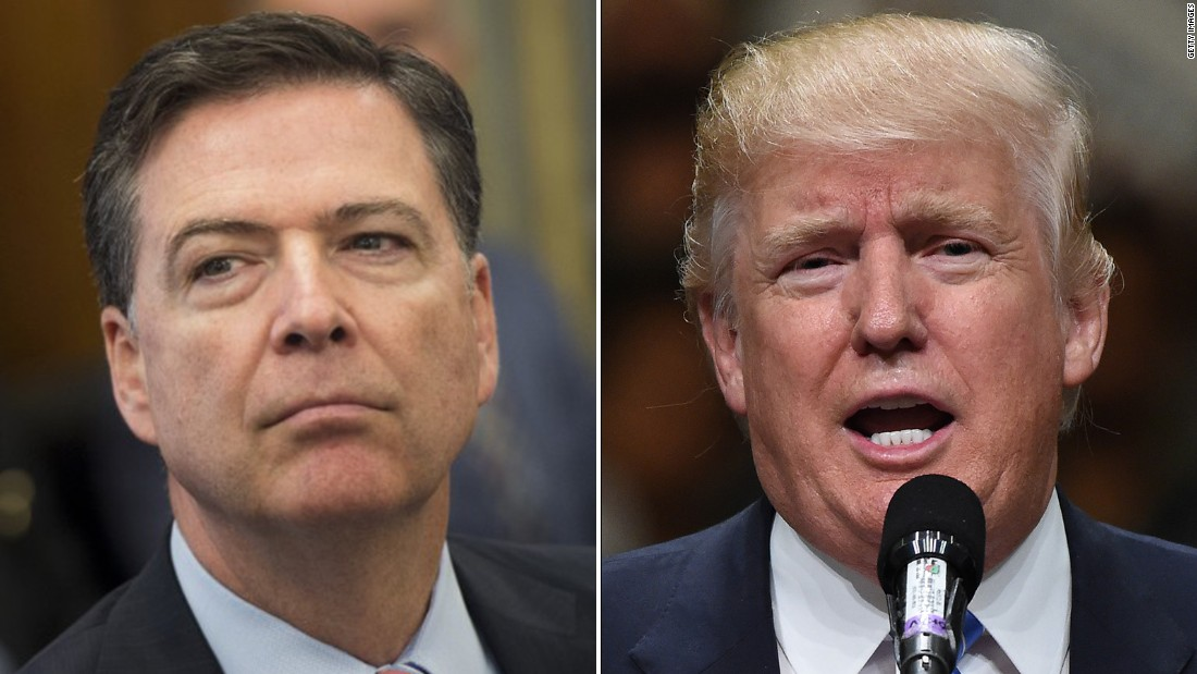 Image result for Trump and James Comey