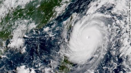 Super typhoon Nepartak surging towards Taiwan on Thursday morning.