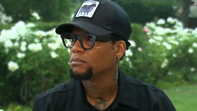 D.L. Hughley gets emotional over police shootings