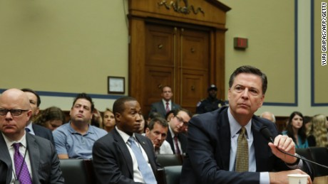 FBI Director James Comey testifies before a House Oversight and Government Reform Committee hearing on Capitol Hill.