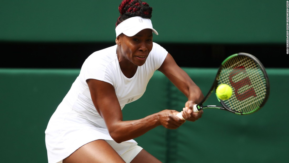Seven breaks of serve in the first eight games suggested the second semifinal could go either way, as 36-year-old Venus Williams took on world No. 4 Angelique Kerber.