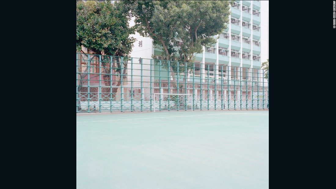 """There were also some amazing courts in schoolyards, but they were hard to get into because the schools are really high-security. No one is allowed to go in unless they have a child. I snuck into one or two of those, but I missed around ten amazing-looking courts because I just couldn't get in.""<em> </em>-- Ward Roberts"
