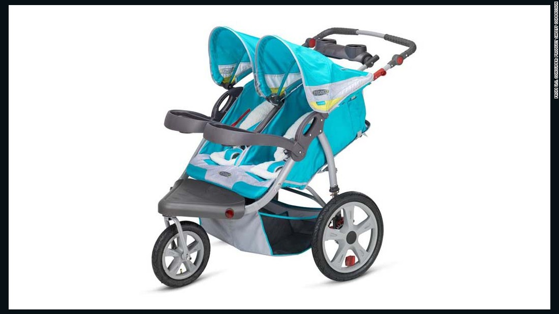 Pacific Cycle recalled 217,600 Instep and Schwinn jogging strollers due to reports of loose or unstable wheels, resulting in 215 injuries. The recall includes the Instep Grand Safari Double.