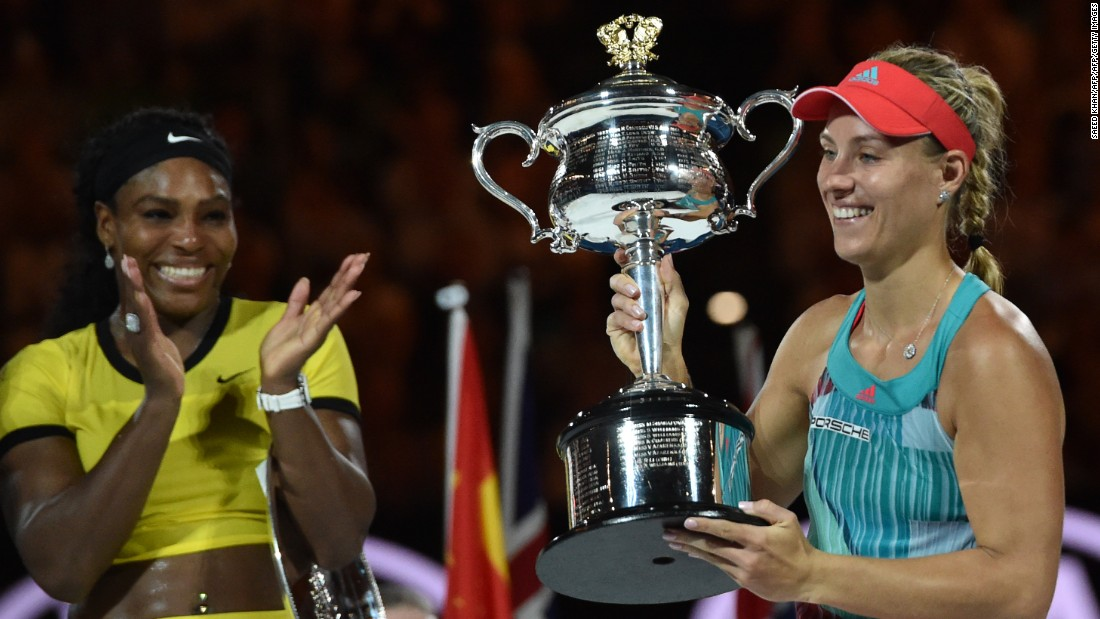 "The German won her first slam in January, beating the six-time Melbourne champion. As Serena chases Steffi Graf's <a href=""http://edition.cnn.com/2016/04/20/tennis/french-open-arantxa-sanchez-vicario/"">record</a>, can Kerber do it again?"