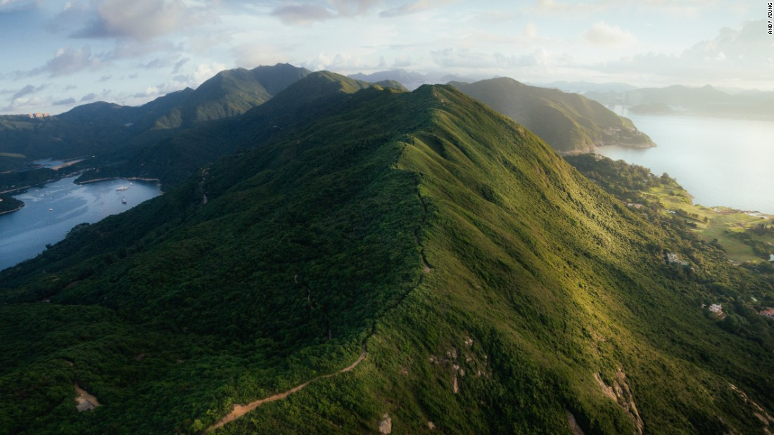 This ridge-top path resembles the arching spine of a dormant dragon sprawling on the grounds of Shek O Country Park. It's widely considered one of the best urban hiking trails in Hong Kong. Click on to see more of the city's most beautiful places.
