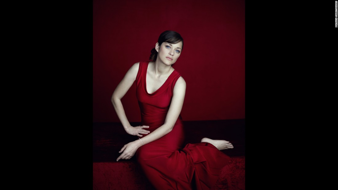 "Actress Marion Cotillard ""is so sensual,"" Swirc said. ""All you have to do is draw your gaze toward her and you have your picture."""