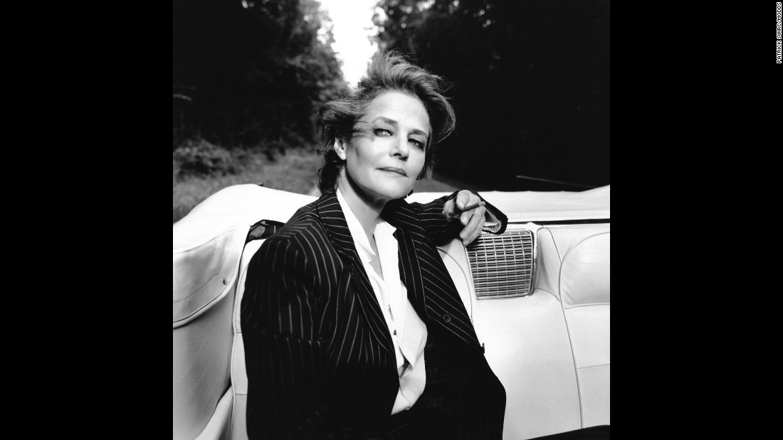 "Actress Charlotte Rampling ""is very interesting to work with,"" Swirc said. ""She takes the time to be completely with you when you photograph her."""