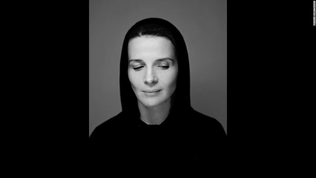 "Swirc had just met actress Juliette Binoche when he took this photo. ""I found her so beautiful and so sensual. I was very happy to photograph her."""