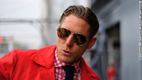 MONZA, ITALY - APRIL 13:  Lapo Elkann is seen in the garage area during the Blancpain GT Endurance test day one at Autodromo di Monza on April 13, 2012 in Monza, Italy.   (Photo by Guido De Bortoli/Getty Images)