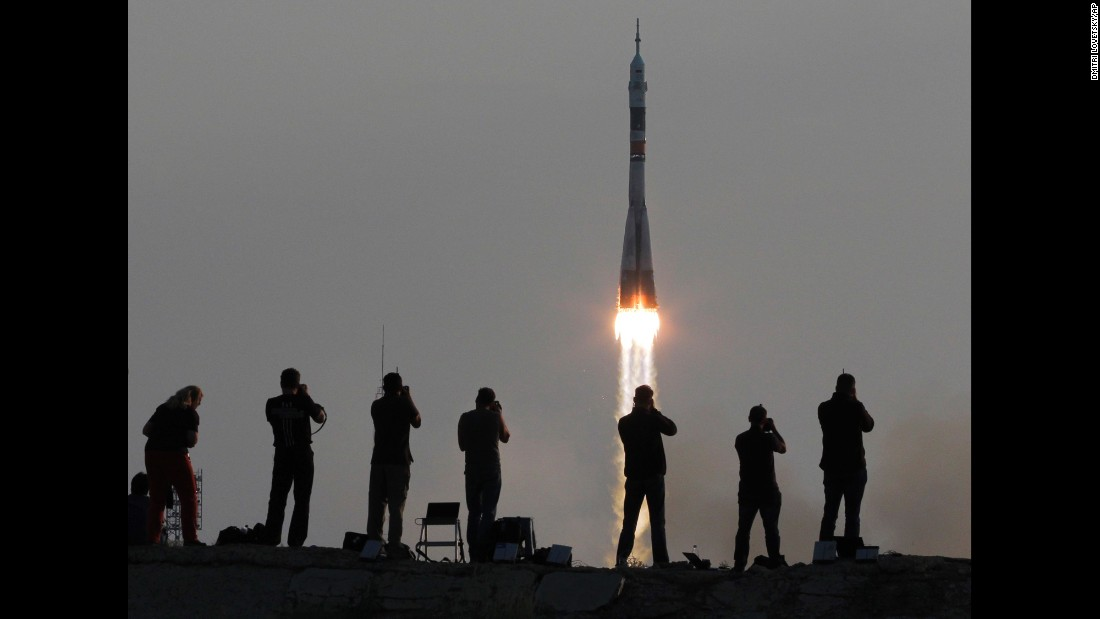 "A Soyuz rocket carries a new crew to the International Space Station on Thursday, July 7. <a href=""http://www.cnn.com/2016/07/01/world/gallery/week-in-photos-0701/index.html"" target=""_blank"">See last week in 33 photos</a>"