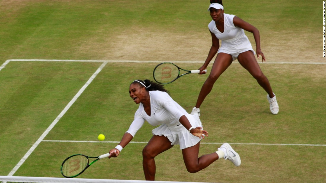 After a short break, the Williams sisters were back out on court for the women's doubles, beating Vesnina and fellow Russian Ekaterina Makarova -- last year's losing finalists -- 7-6 (7-1) 4-6 6-2 to reach the semis. The Americans next face Julia Gorges and Karolina Pliskova, the eighth seeds.