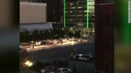 dallas police officers shot gunshots heard sot ctn_00000022