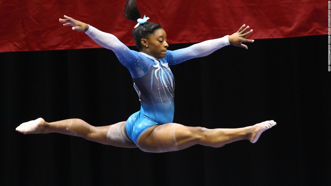 Simone Biles, a three-time all-around world champion and a four-time U.S. champion, is the favorite to win the all-around gold in this year's Olympics.
