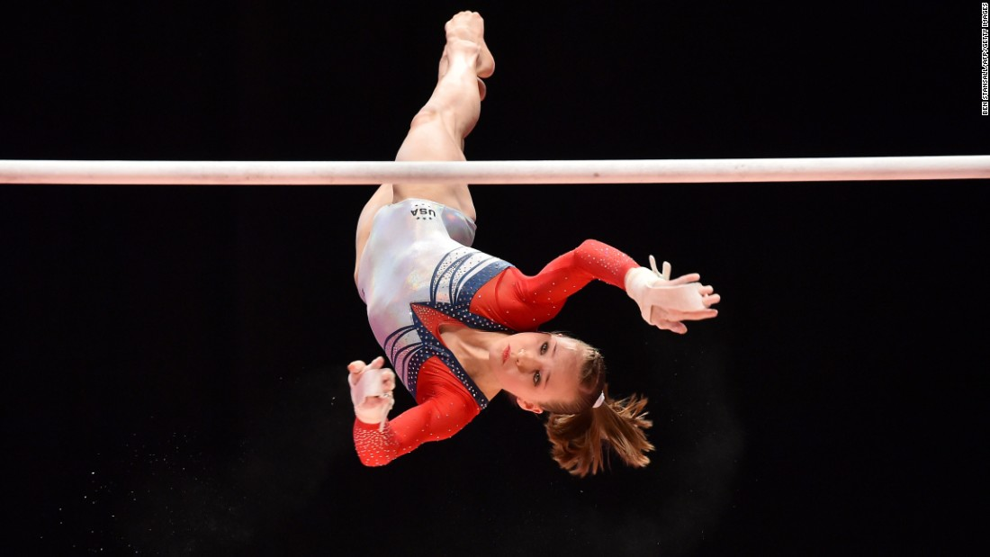 Madison Kocian finished second on the uneven bars at this year's P&G Championships.