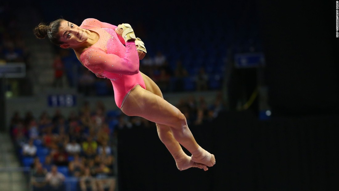 "Aly Raisman, who was part of the American ""Fierce Five"" that won Olympic gold in 2012, finished second in the all-around at this year's P&G Championships."