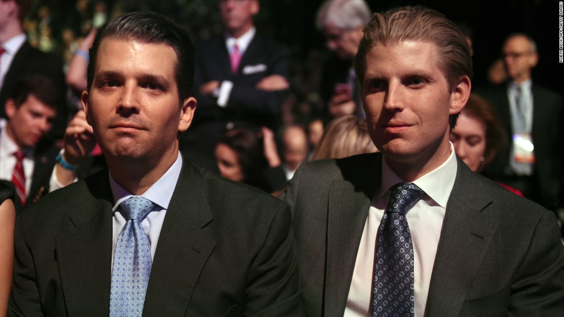 Trump's sons Donald Jr., left, and Eric