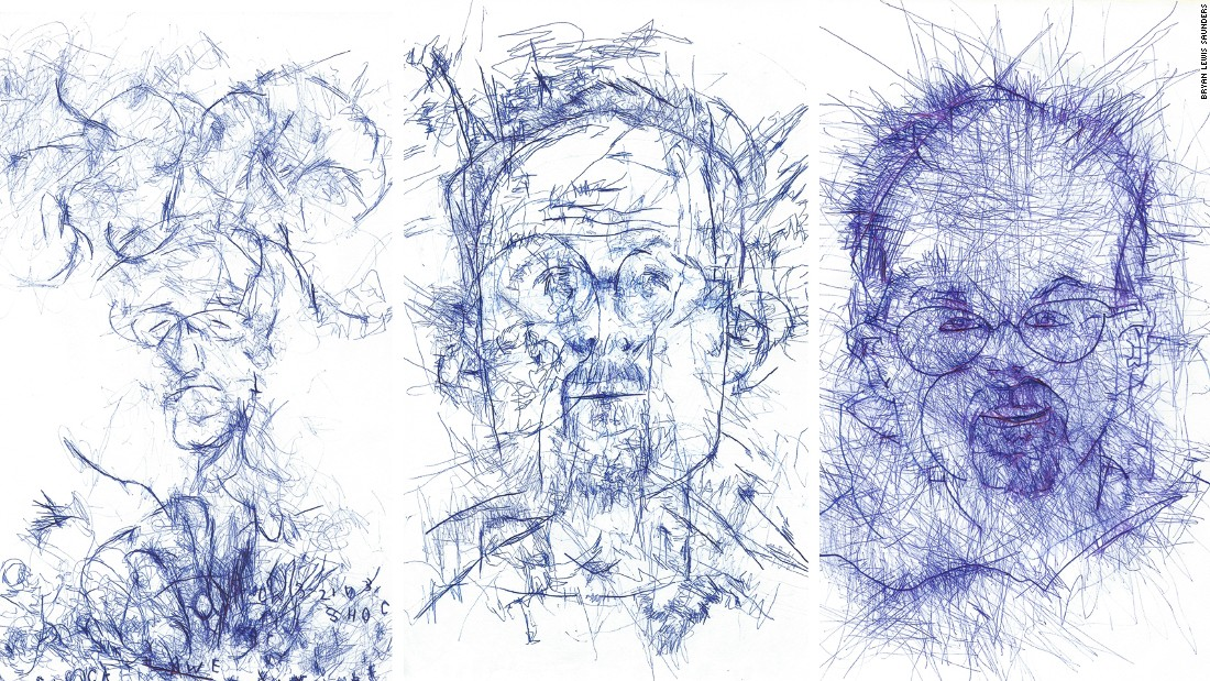 "The evolution of Saunders' draftsmanship through the course of ""Blind""."