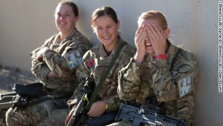British female troops have served in Afghanistan and Iraq, but were barred from close combat roles.
