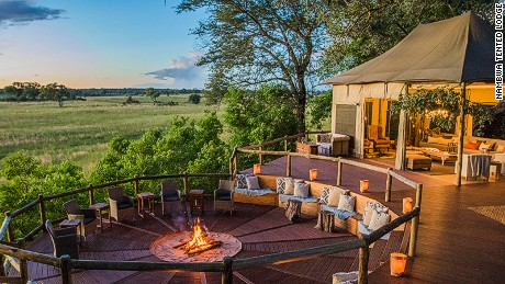 Nambwa Tented Lodge has a viewing deck for watching the local wildlife.
