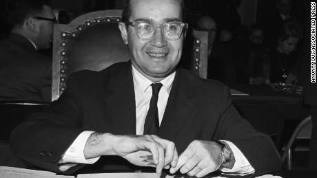 Newton Minow, Chairman of the Federal Communications Commission, appears before the House Antitrust Subcommittee which is probing newspaper competition, March 13, 1963, in Washington, D.C.