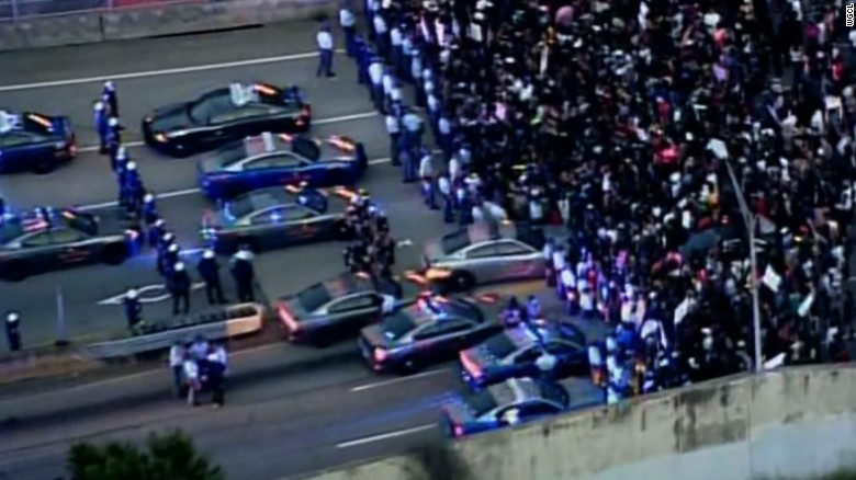 Protesters shut down highway