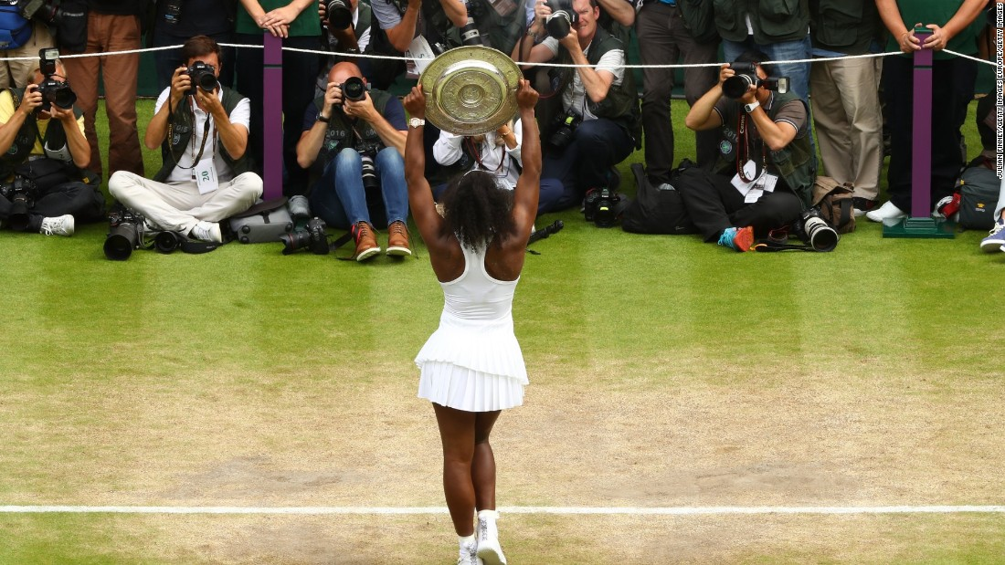 Williams claimed her 22nd grand slam title to tie Steffi Graf on the all-time list.