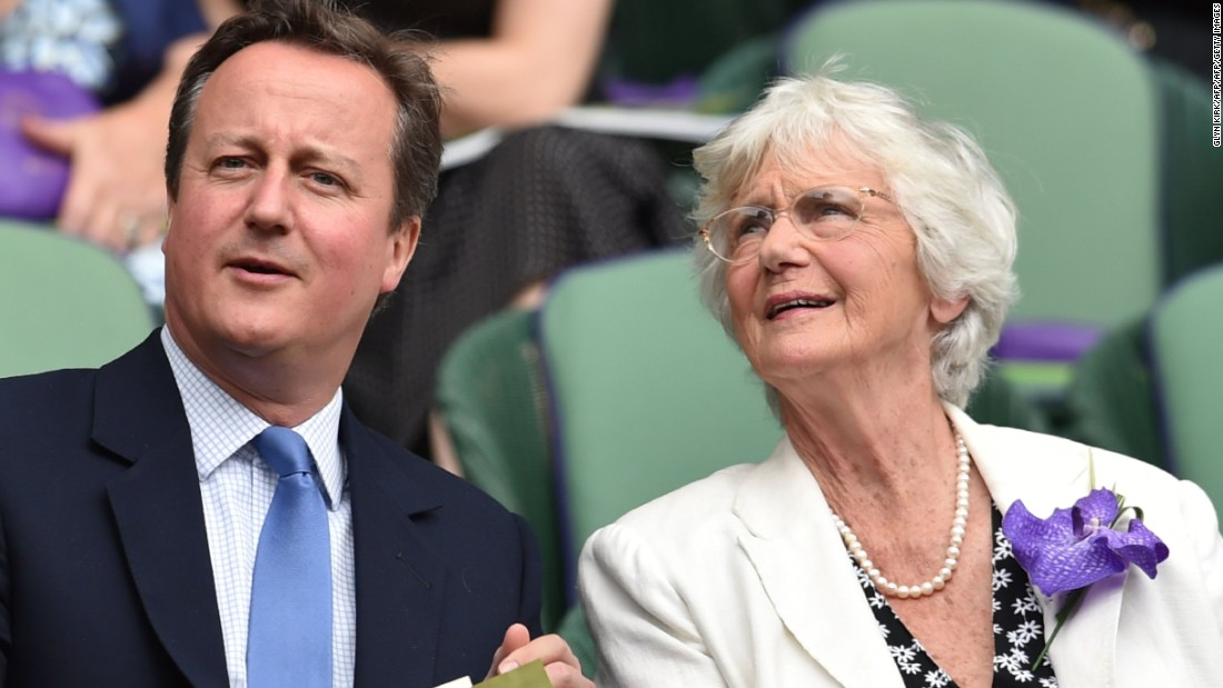 British Prime Minister David Cameron took his mother Mary to see if Murray could secure a second Wimbledon title.<br />