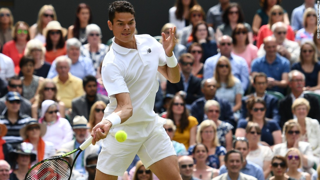 Raonic defeated Roger Federer in the semifinal and looked confident in the opening stages of the match.