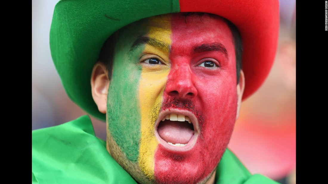 Portugal fans watched on as its team tried to overcome the loss of its star player.