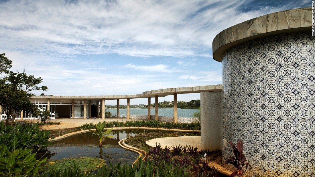 Designed by architect Oscar Niemeyer in collaboration with other artists, the Pampulha Modern Ensemble was the heart of a 1940 garden city project created in Belo Horizonte, the capital of the Brazilian state of Minas Gerais. The center, which combined architecture, landscape design and sculpture, included a casino, a golf and yacht club and a church.