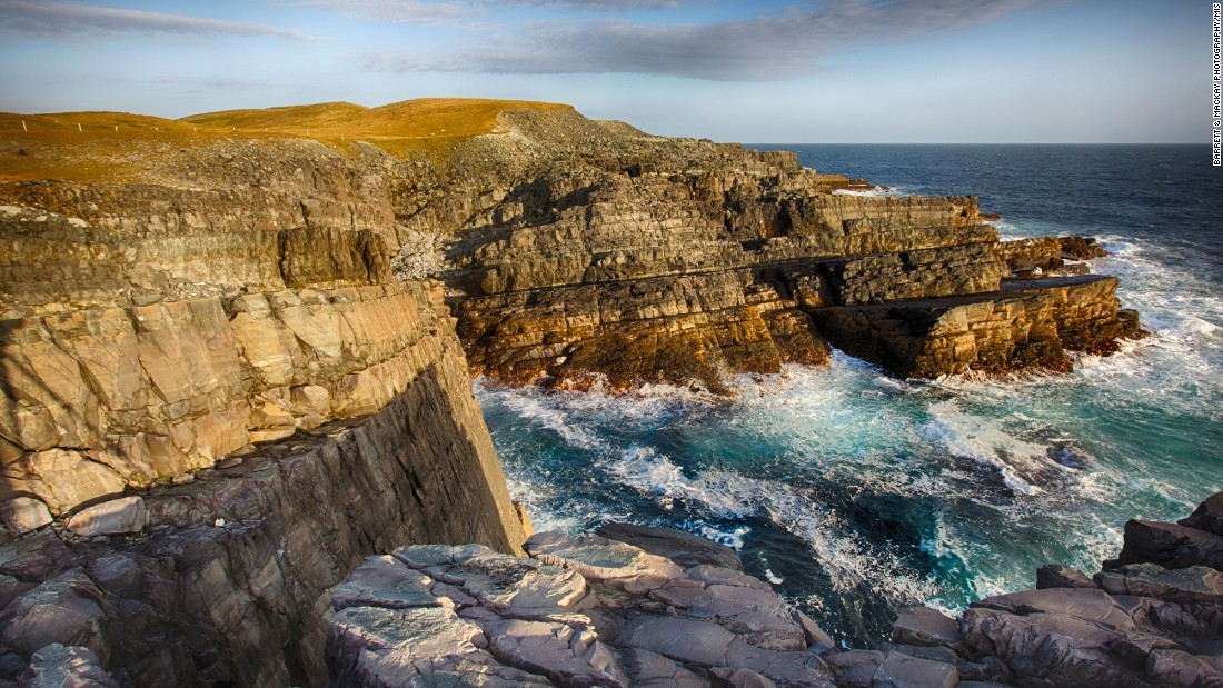 On the southeastern tip of the island of Newfoundland, a narrow strip of coastal cliffs dating back more than 500 million years contains the oldest known collection of large fossils in the world. The fossils mark the appearance of biologically complex organisms.