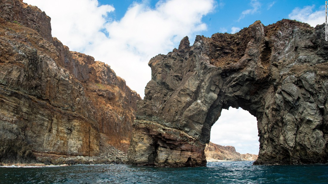 This archipelago, part of a submerged mountain range in Mexico, consists of the four remote islands of Socorro (shown here), San Benedicto, Roca Partida and Clarión and their surroundings waters. The four islands are habitats for seabirds and other wildlife, and whales, dolphins and sharks live in the surrounding waters.