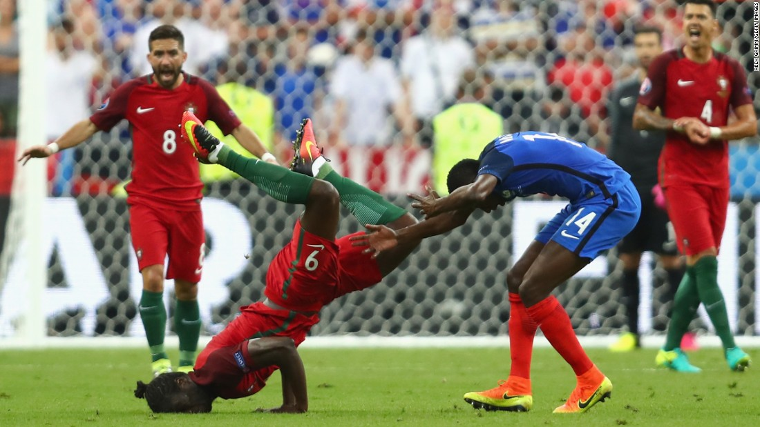 Eder was a handful for the French defense throughout his time on the field of play.