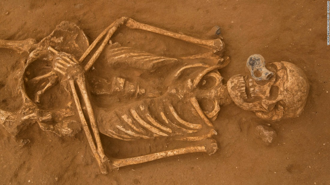Some of the skeletons found at the site were buried with jugs, storage jars and bowls. Others wore jewelry or had weapons in their grave.