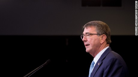 Secretary of Defense Ash Carter speaks during a press conference on June 30, 2016 at the Pentagon in Arlington, Virginia.