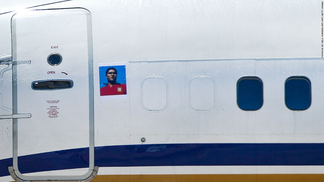 In a heartwarming touch, the aircraft featured an image of the late, great Eusebio -- scorer of 41 goals in just 64 appearances for Portugal.