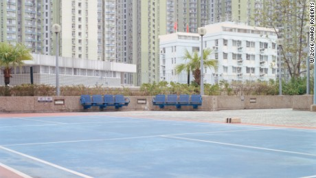 Capturing the ethereal beauty of deserted sport courts
