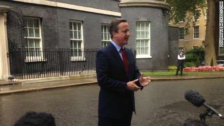 David Cameron resignation date announcement