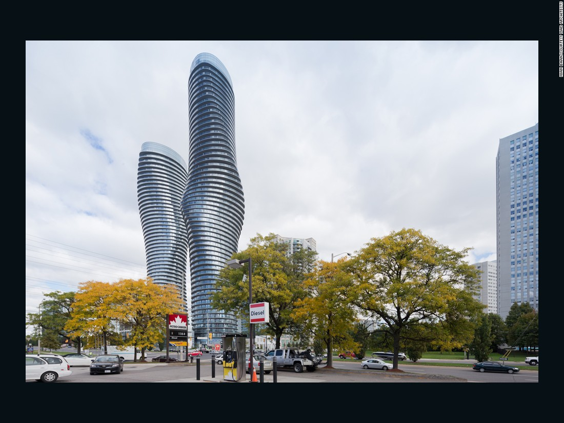 Dubbed the 'Marilyn Monroe' towers by local residents due to its fluid, natural lines, Absolute World Towers was designed by MAD architects.