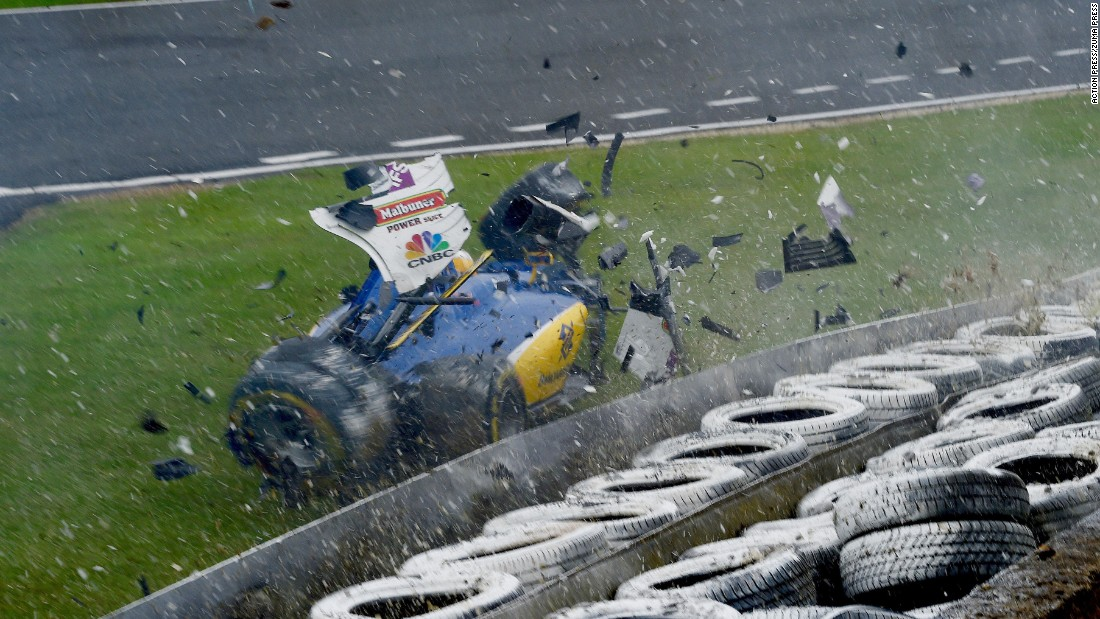 Formula 1 driver Marcus Ericsson crashes during a final practice race at the Silverstone Circuit on Saturday, July 9. Following routine medical check-ups, the Swede was cleared to race in the British Grand Prix.