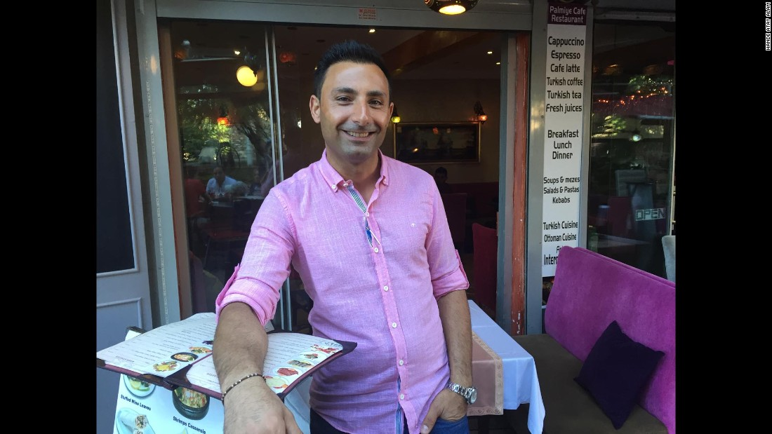 "Restaurant Manager Dinçer Togrul told CNN things had been looking up before last month's <a href=""http://www.cnn.com/2016/06/30/europe/turkey-istanbul-ataturk-airport-attack/"" target=""_blank"">Istanbul terror attack</a>. ""Last month, we were so happy. Business was just picking up. But then, the airport attack happened. Now, we rarely see any Europeans or Americans."""
