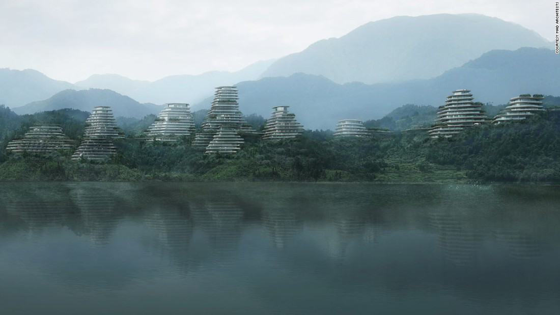 Like an ancient Chinese painting, MAD Architects' Huangshan Mountain Village rises above Taiping Lake. Except the village houses look more like space capsules, and the mountains are made of metal.