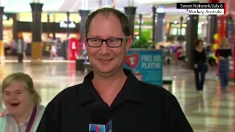 girl with down syndrome photobombs live shot daily hit newday_00003005