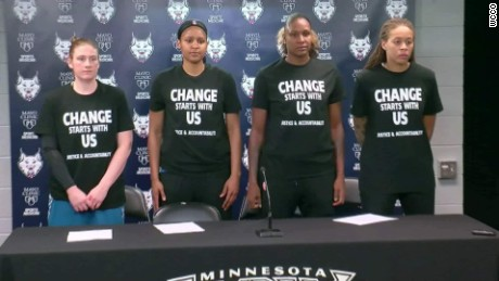 WNBA players speak out on Black Lives Matter T-shirts