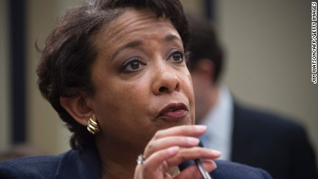 US Attorney General Loretta Lynch testifies before the House Judiciary Committee on Capitol Hill in Washington, DC, July 12, 2016.