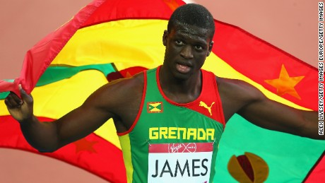 Grenada's Olympic champion Kirani James