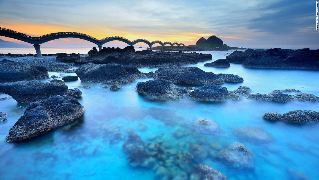 The footbridge which connects small, uninhabited Sanxiantai Island to Taitung is celebrated for its eight looping arches. This coastal county is in Lonely Planet's list of top destinations in Asia to visit in 2016. Click through the rest of the gallery to see the top ten.